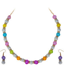 Buy Multicolor Motif Necklace Set necklace-set online