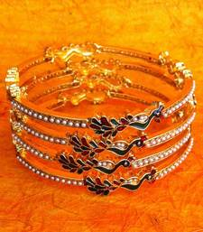 Buy Peacock Collection: Cute & Pretty Set of Four Peacock Motif  Bangles rj16 bangles-and-bracelet online