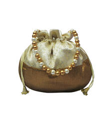 Buy brocade potli with sequin bottom (Gold) potli-bag online