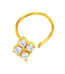Buy Gold Plated The Cluster Nosepin with CZ for Women nose-ring online