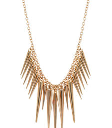 Buy Spike Alloy Gold Plated Necklace Necklace online