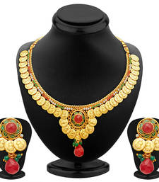 Buy Fine Gold Plated Temple Jewellery Necklace Set necklace-set online