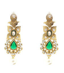 Buy stunning  Green Earrings danglers-drop online
