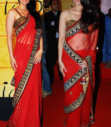 Buy Kareena Red Bollywood Replica net-saree online