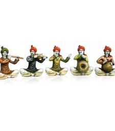 Buy Set of 5 Rajasthani Musician Men gifts-for-mom online