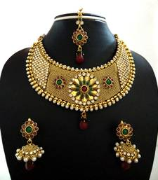 Buy Designer Multicolor Wedding Bridal Choker Necklace necklace-set online
