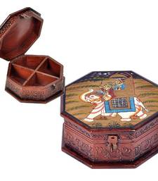 Buy Hand Painted Octagonal Wooden Art Jewelry Box jewellery-box online