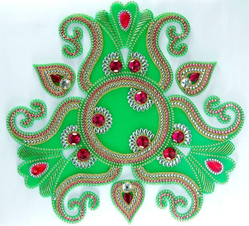 Buy diwali decorative acrylic rangoli online for Diwali decoration material