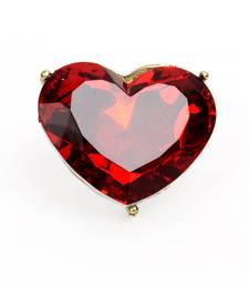 Buy Red Heart Cocktail Ring Ring online