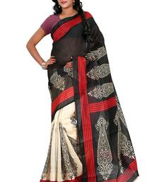 Buy multicolor printed cotton_silk saree with blouse bhagalpuri-silk-saree online