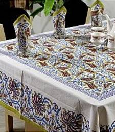 Buy Set Of Hand Block Printed Table Cover With 6 Napkins_23 table-cloth online