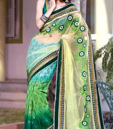 Buy Party Wear Multi Color Net and Viscos Saree with Blouse  net-saree online
