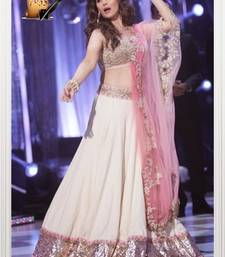 Buy White Color georgette fabric stylish lehanga navratri-lehenga-chaniya-choli online