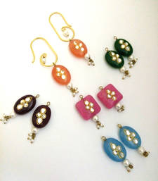 Buy multicolor changeable drop bali earring hoop online