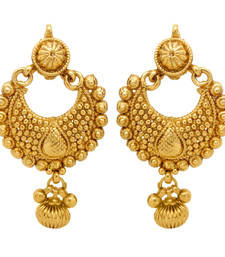 Buy Traditional Ethnic Gold Plated Ethnic Golden Diya Earrings For Women danglers-drop online