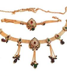 Buy Combo Of Traditional Waist Belt And Armlet Baju Band With Enamel Work waist-belt online