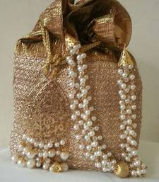 Buy GOLDEN POTLI WITH BEADS potli-bag online