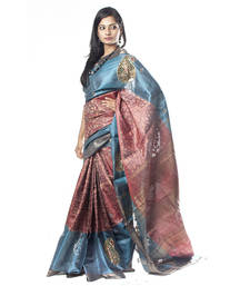 Buy Tusser Cut-work Saree silk-saree online