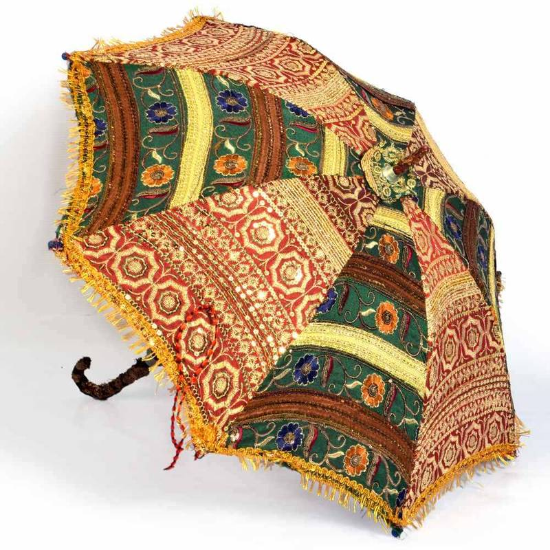 Home Decor Handicrafts: Buy Colorful Design Rajasthani Umbrella Handicraft 216 Online