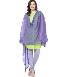 Buy Chiffon Dupatta Dark Mauve stole-and-dupatta online
