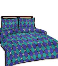 Buy Multi-Color Printed Double Bedsheet n Pillow Covers 150 duvet-cover online
