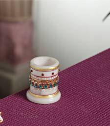 Buy Marble Toothpick Stand with Kundans other-home-accessory online