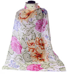 Buy Hand-made Multi Coloured 100% Merino wool Shawl shawl online