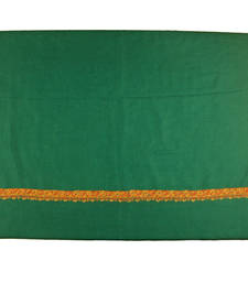 Buy Hand-made Emerald Green Coloured 100% Pure Pashmina Shawl shawl online