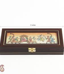 Buy Wedding Procession Stones Inlay Work wooden Gem Box jewellery-box online