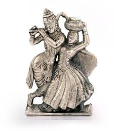 Buy Lord Radha Krishna Antique White Metal Idol Deepawali Gift 311 diwali-decoration online