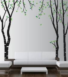 Buy Wall decals birch tree with leaves stickers wall-art online