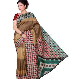 Buy Multi Color Art Silk Printed Saree with  Blouse   below-500 online