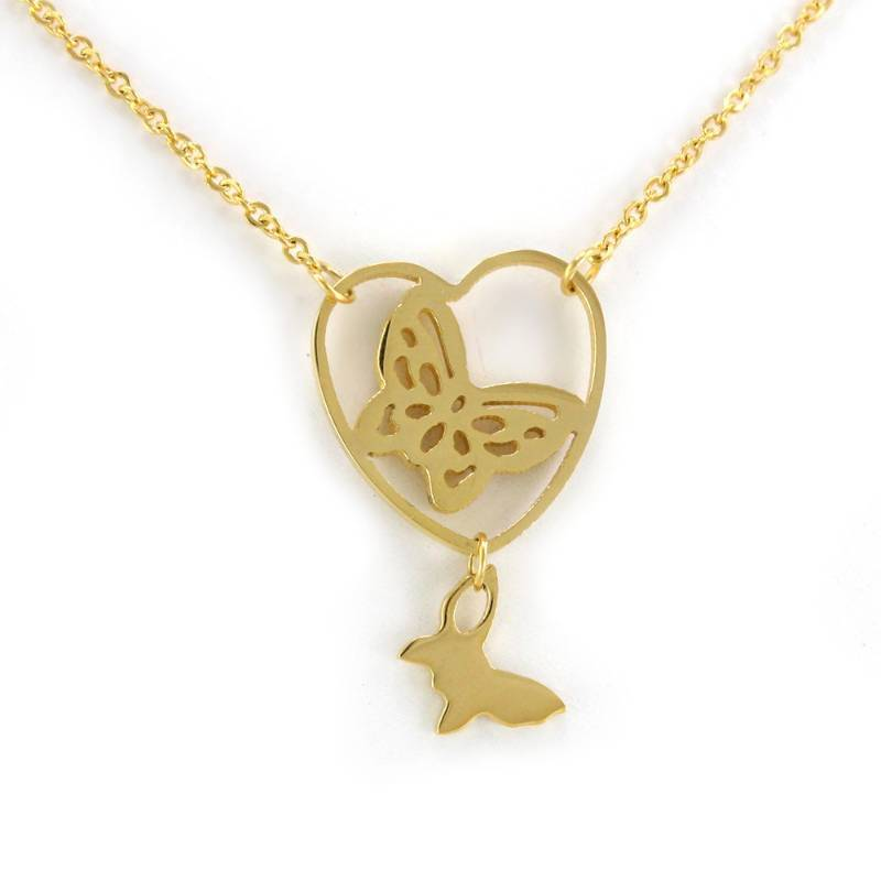 Buy Yellow Color Stainless Steel Without Stone Butterfly ...