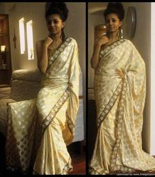 Buy Creamy Magic satin-saree online