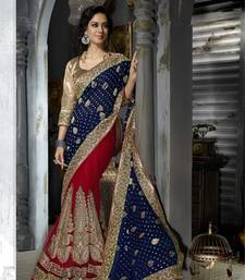 Buy Blue Embroidered Viscose saree with blouse other-saree online