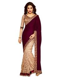 Buy fancyfashion Georgette Designer Sari Saree velvet-saree online