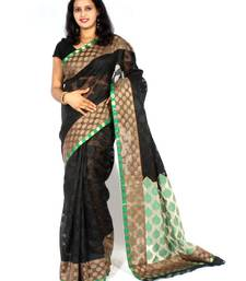 Buy Designer supernet fancy aanchal border saree cotton-saree online