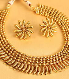 Buy Gorgeous  antique  designer necklace  with earrings necklace-set online