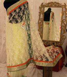 Buy Embroidered Net Saree shimmer-saree online