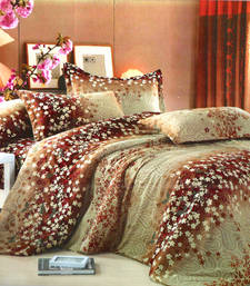 Buy Paisley Print Beautiful Polyester Double Bedsheet bed-sheet online