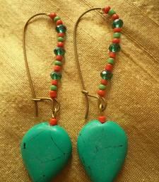 Buy Red Green Heart Earrings -03061 danglers-drop online