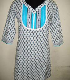 Buy White coloured printed kurti kurtas-and-kurti online