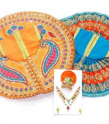 Buy 8'' Zari And Thread Work Poshak And Shringar religious-item online