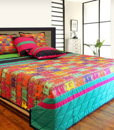 Buy Vibrant Taxi's Cottton King Size 5 Pcs Quilted Bedspread bed-sheet online