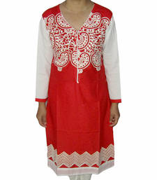Buy Multicolor printed Cotton kurtas-and-kurtis kurtas-and-kurti online