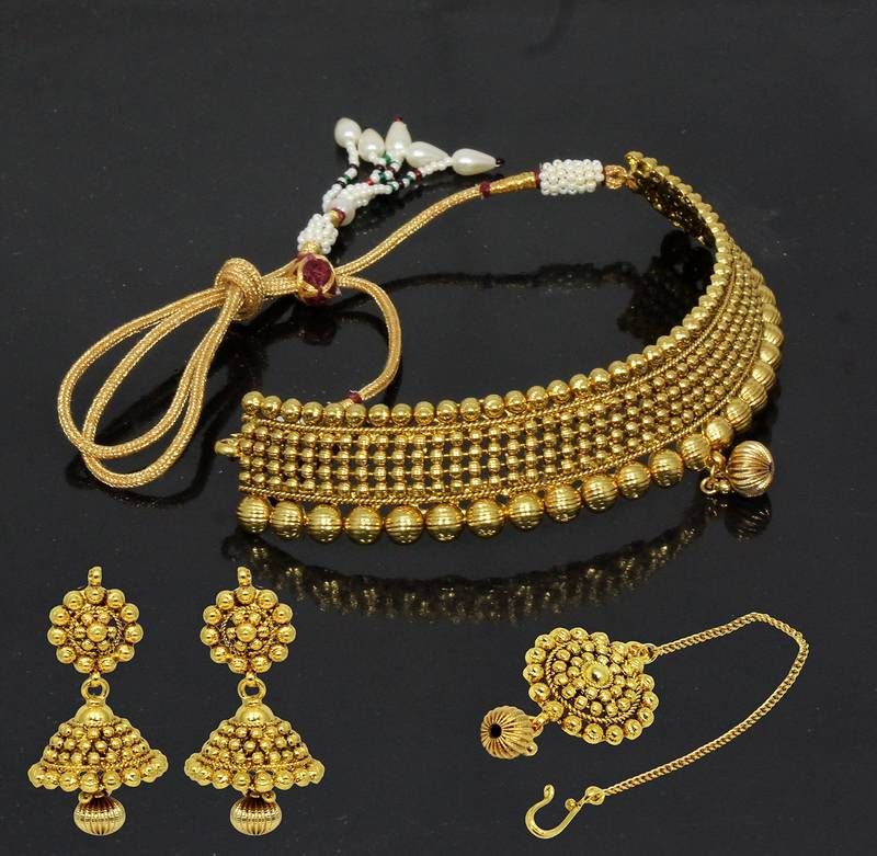 Top 25 Indian Antique Jewellery Designs For Women: Buy Traditional & Antique Neck Fit Necklace With Jhumki