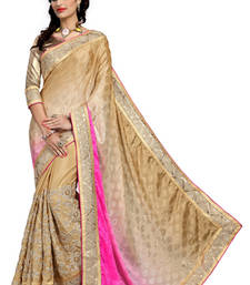 Buy Pink Embroidered Jacquard Fancy saree with Blouse wedding-saree online