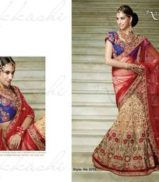 Buy Heavy Embroidered Brasso Lehenga Saree with Net Pallu & Heavy Embroidered Blouse net-saree online