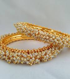 Buy Royal Ravishing Gold Kada with Pearls - JFL bangles-and-bracelet online