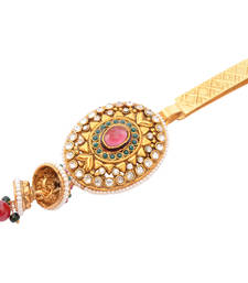 Buy Foppish Mart Desi Oval  Stone  Studded Desi Saree Challa/ Waist Key Chain/Satka key-chain online